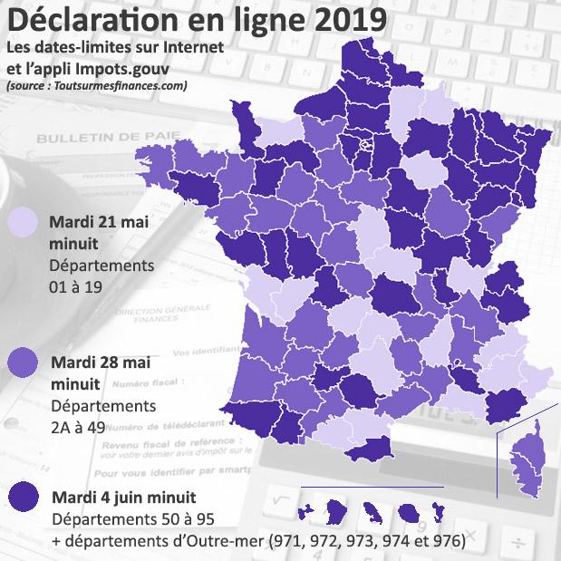 Déclaration de revenus : les dates-limites par département pour 2019